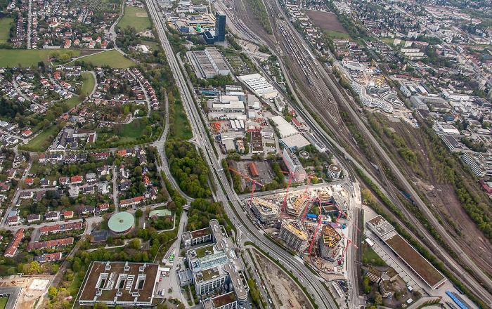 Luftbild aus Zeppelin: Bogenhausen / Berg am Laim (rechts oben) München