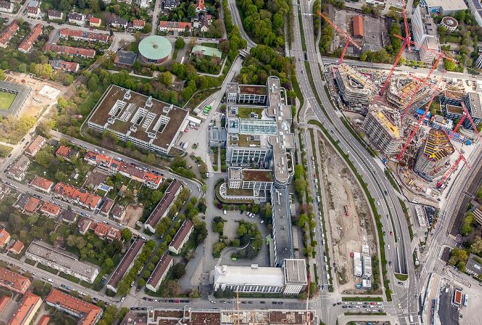 Luftbild aus Zeppelin: Bogenhausen (Steinhausen) mit Giesecke & Devrient München