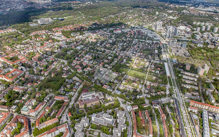 Luftbild aus Zeppelin: Bogenhausen mit Altbogenhausen und der Parkstadt Bogenhausen München