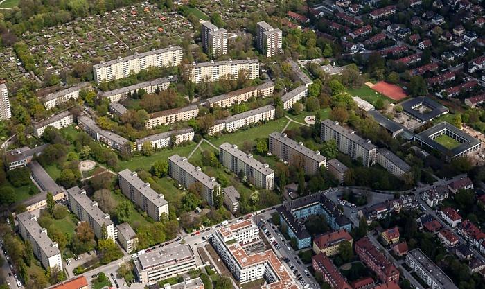 Luftbild aus Zeppelin: Bogenhausen mit der Parkstadt Bogenhausen München