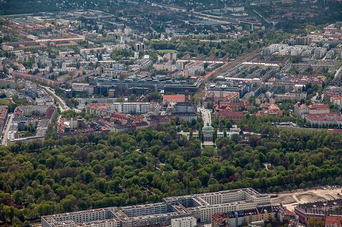Luftbild aus Zeppelin: Obergiesing-Fasangarten, Au-Haidhausen (unterer Bildrand) München 2017