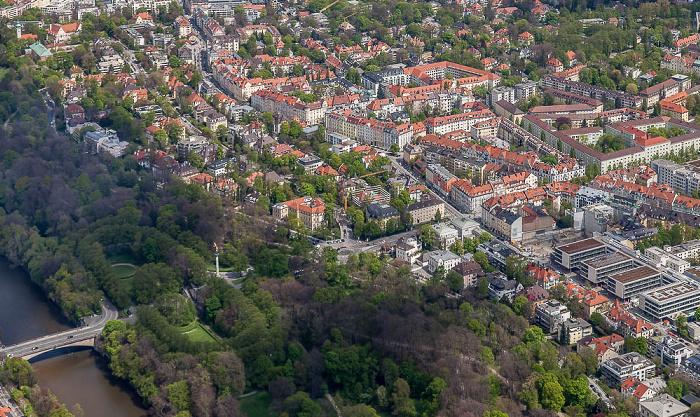 Luftbild aus Zeppelin: Bogenhausen mit Altbogenhausen München