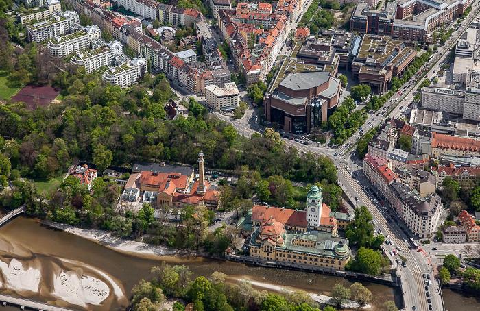 Luftbild aus Zeppelin: Au-Haidhausen München 2017