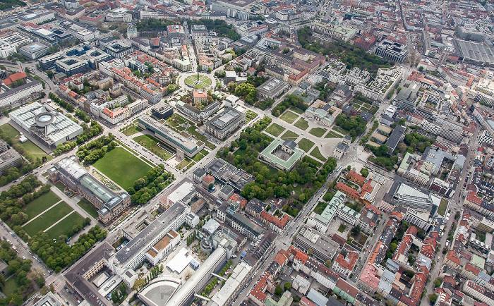 Luftbild aus Zeppelin: Maxvorstadt - Kunstareal München München 2017