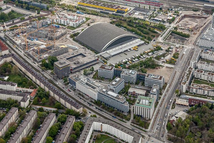 Luftbild aus Zeppelin: Neuhausen-Nymphenburg München 2017