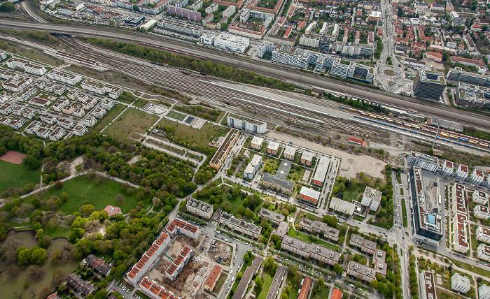 Luftbild aus Zeppelin: Neuhausen-Nymphenburg, Laim (oben) München 2017