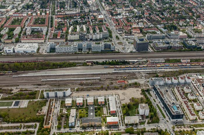Luftbild aus Zeppelin: Neuhausen-Nymphenburg (unten), Laim (oben) München 2017