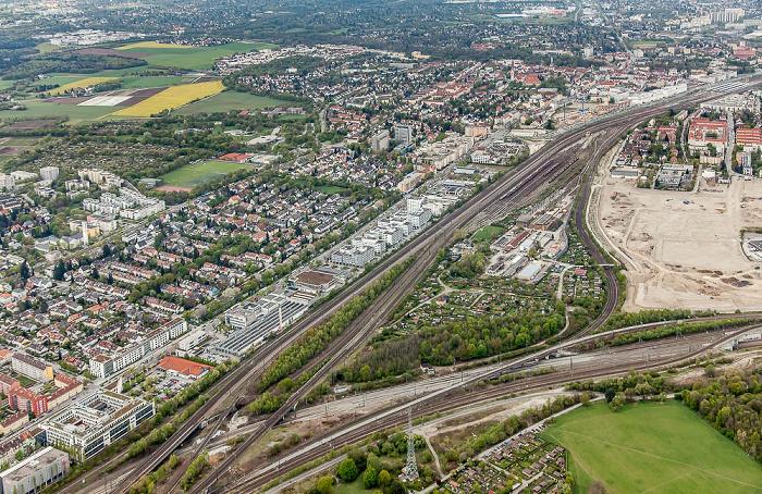 Luftbild aus Zeppelin: Laim (links unten), Pasing-Obermenzing München 2017
