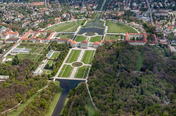 Luftbild aus Zeppelin: Neuhausen-Nymphenburg - Schloss und Park Nymphenburg München 2017