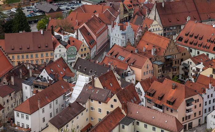 Blick von der Burg Trausnitz: Altstadt / Ländgasse Landshut 2017