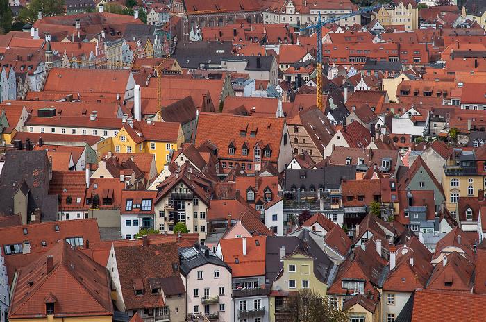 Landshut Blick von der Burg Trausnitz: Altstadt