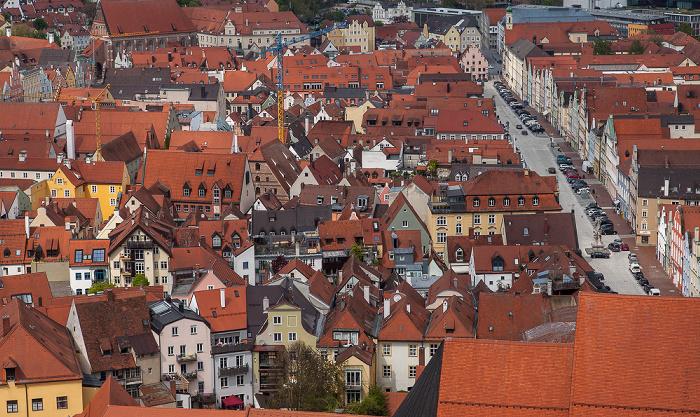 Landshut Blick von der Burg Trausnitz: Altstadt / Neustadt