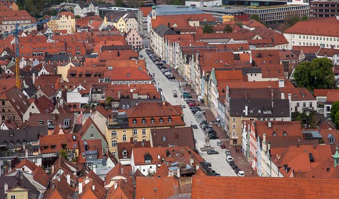 Blick von der Burg Trausnitz: Altstadt - Neustadt Landshut 2017