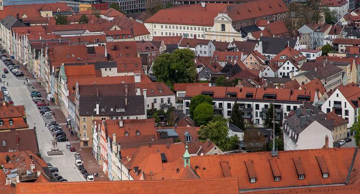 Landshut Blick von der Burg Trausnitz: Altstadt - Neustadt Dominikanerkloster Landshut Landshut