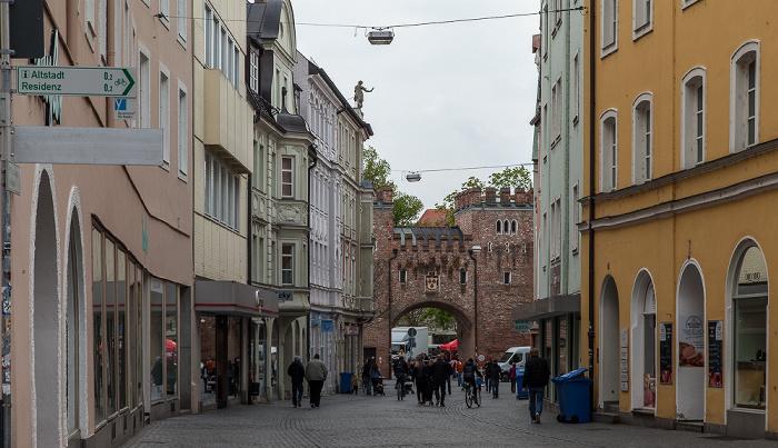 Altstadt: Theaterstraße, Ländtor Landshut 2017