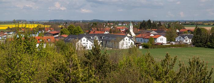 Blick vom Aussichtshügel Riemer Park: Riemer Park (Landschaftspark Riem, BUGA-Park), Salmdorf München
