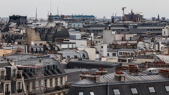 Paris Blick von den Galeries Lafayette  Centre Pompidou