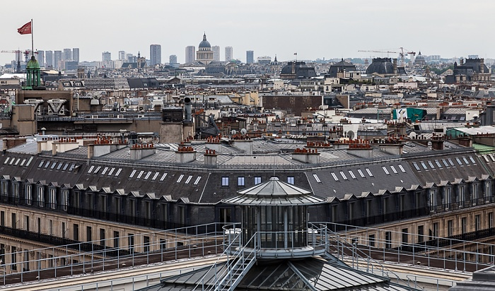 Paris Blick von den Galeries Lafayette  Panthéon