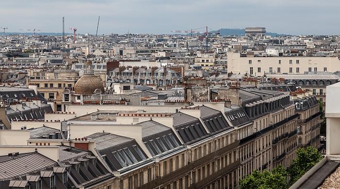 Paris Blick von den Galeries Lafayette Arc de Triomphe
