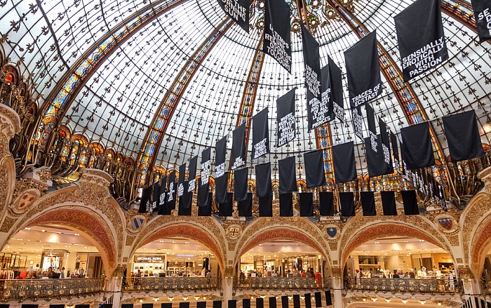 Paris Galeries Lafayette: Kuppel der großen Halle