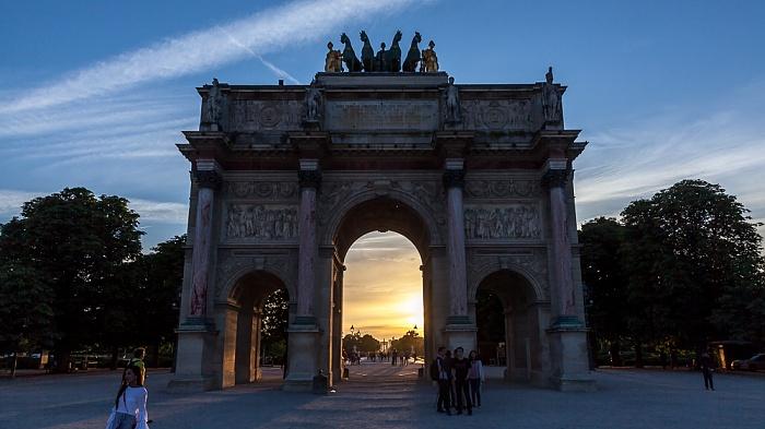 Paris Arc de Triomphe du Carrousel Jardin des Tuileries