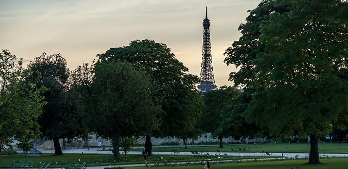 Paris Jardin des Tuileries Eiffelturm