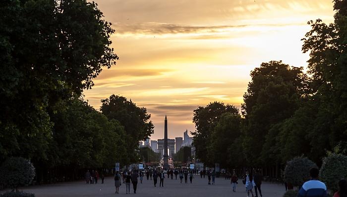 Paris Jardin des Tuileries Arc de Triomphe Avenue des Champs-Élysées Obelisk von Luxor