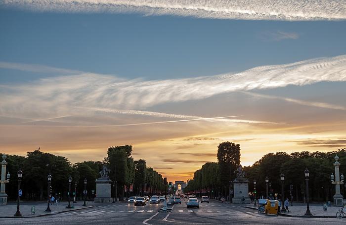 Place de la Concorde, Avenue des Champs-Élysées, Arc de Triomphe Paris