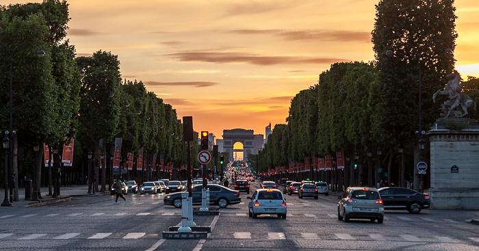 Avenue des Champs-Élysées, Arc de Triomphe Paris