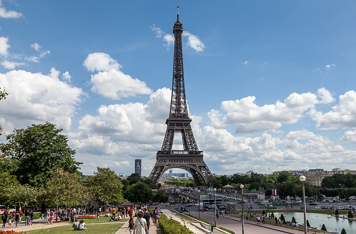 Trocadéro, Pont d'Iéna, Eiffelturm (Tour Eiffel) Paris