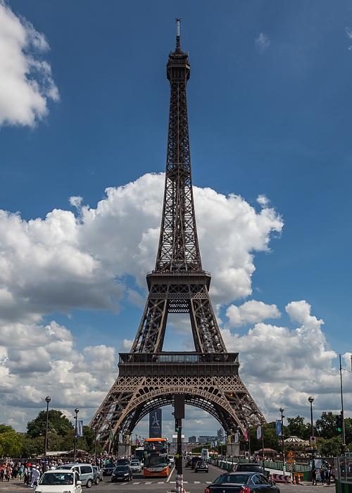 Paris Pont d'Iéna, Eiffelturm (Tour Eiffel)