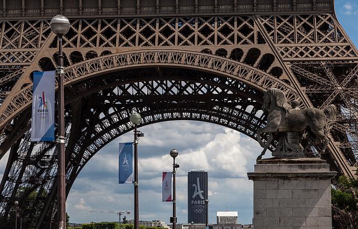 Pont d'Iéna, Eiffelturm (Tour Eiffel) Paris
