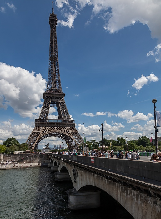Seine, Pont d'Iéna, Eiffelturm (Tour Eiffel) Paris