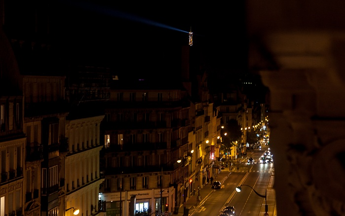 Blick aus dem Hotel ibis Paris Gare du Nord TGV: Rue La Fayette Paris