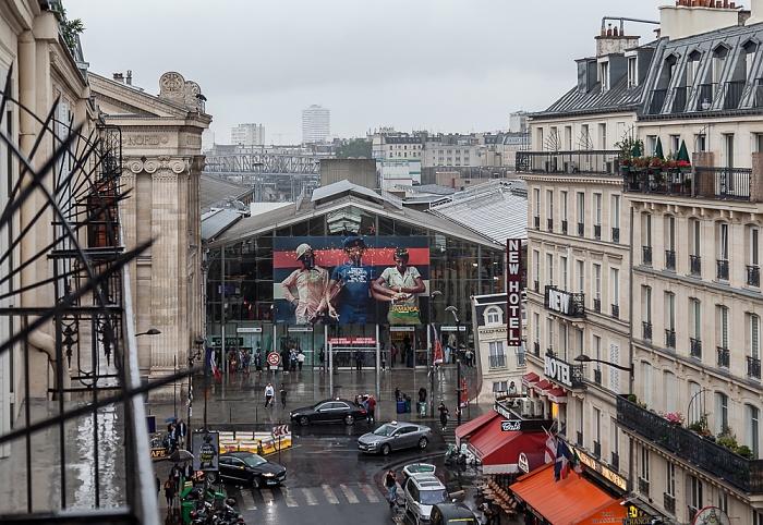 Blick aus dem Hotel ibis Paris Gare du Nord TGV: Rue de Saint-Quentin, Gare du Nord