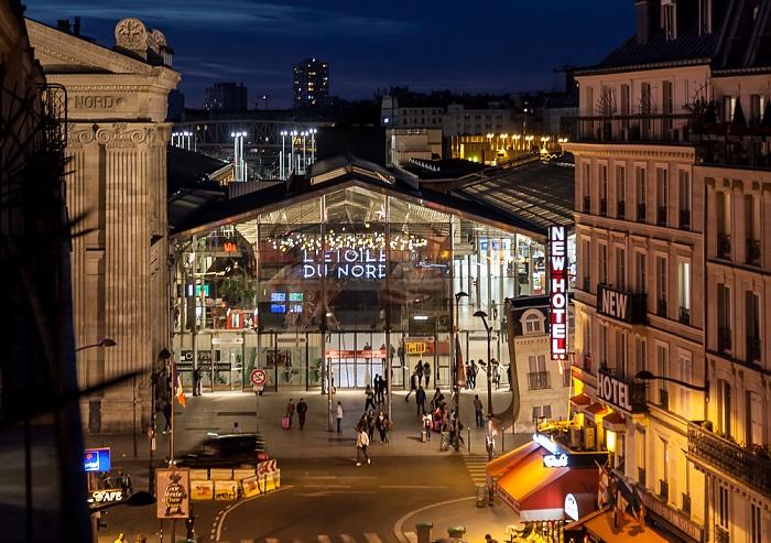 Blick aus dem Hotel ibis Paris Gare du Nord TGV: Rue de Saint-Quentin, Gare du Nord Paris