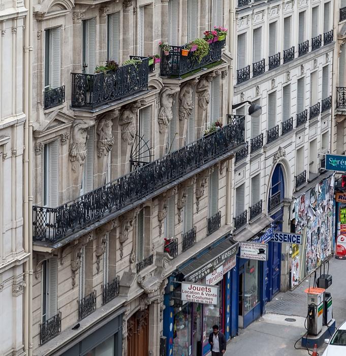 Blick aus dem Hotel ibis Paris Gare du Nord TGV: Rue de Saint-Quentin Paris