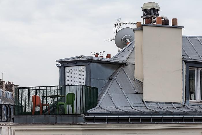 Blick aus dem Hotel ibis Paris Gare du Nord TGV: Rue La Fayette / Rue de Saint-Quentin Paris