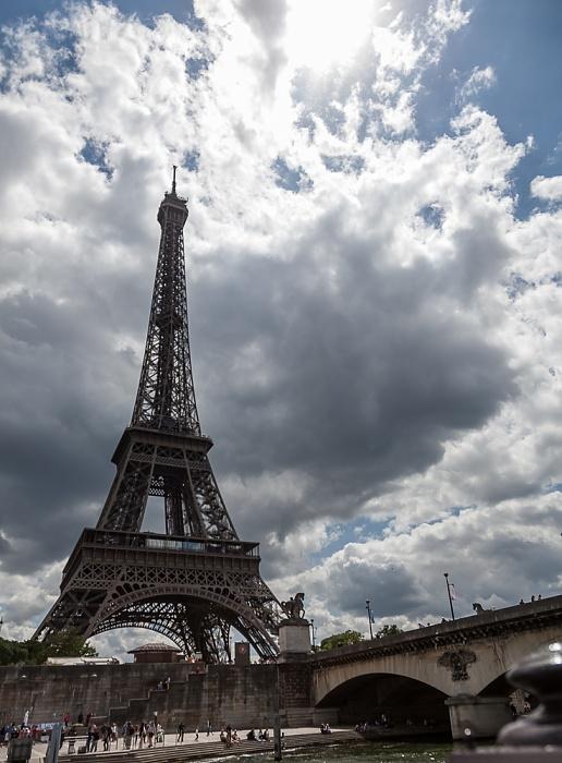 Paris Seine, Pont d'Iéna, Eiffelturm (Tour Eiffel)