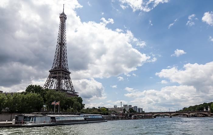Paris Seine, Port de La Bourdonnais, Eiffelturm (Tour Eiffel) Pont d'Iéna