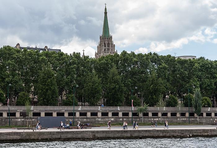 Seine, Port du Gros Caillou, Esplanade Habib-Bourguiba, Église américaine de Paris