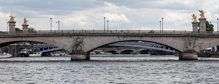 Paris Seine, Pont des Invalides Pont Alexandre III Pont de la Concorde