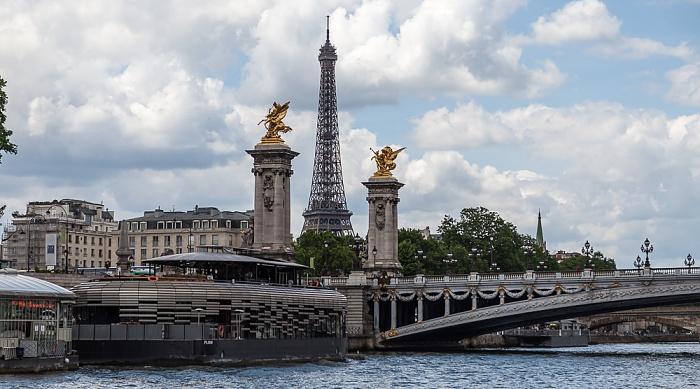 Paris Seine, Pont Alexandre lll Eiffelturm Pont Alexandre III Port Alexandre III