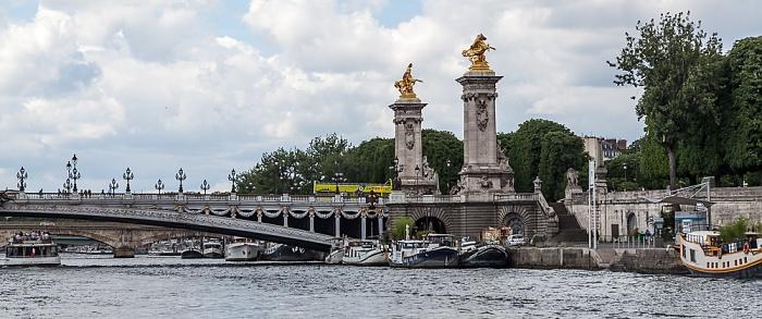 Paris Seine, Pont Alexandre III Port des Champs-Élysées