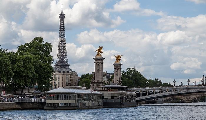 Paris Seine, Pont Alexandre III Eiffelturm Port Alexandre III