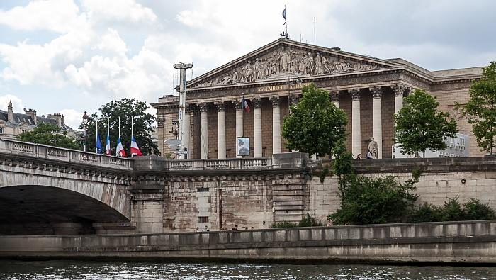 Paris Seine, Palais Bourbon (Nationalversammlung) Pont de la Concorde