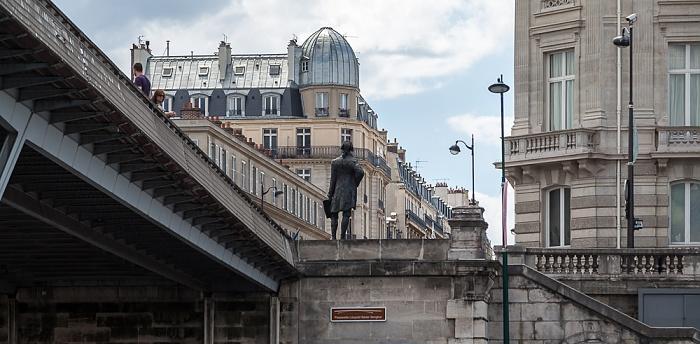 Paris Seine, Passerelle Léopold-Sédar-Senghor, Statue von Thomas Jefferson