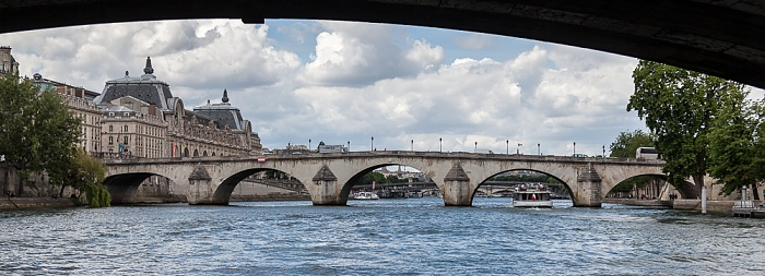 Paris Seine, Pont Royal (oben), Pont du Carrousel Musée du Louvre