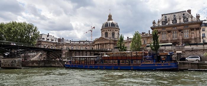 Paris Seine, Port des Saints-Pères, Quai Malaquais, Institut de France Pont des Arts