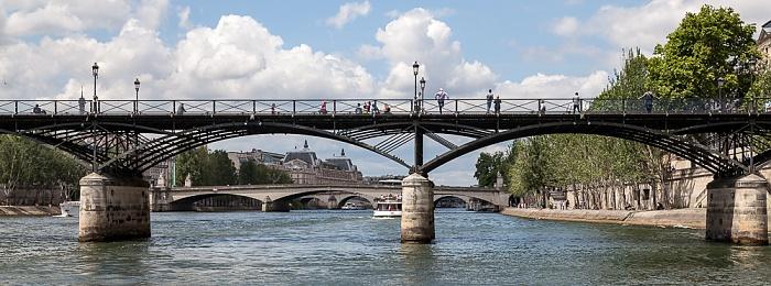 Paris Seine, Pont des Arts Musée d'Orsay Pont du Carrousel Quai des Tuileries